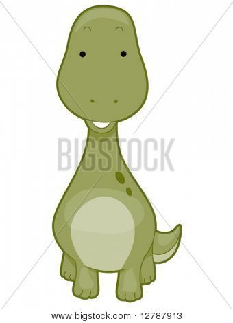 Cute Brontosaurus - Vector
