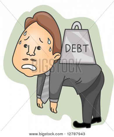 Burden with Debt - Vector