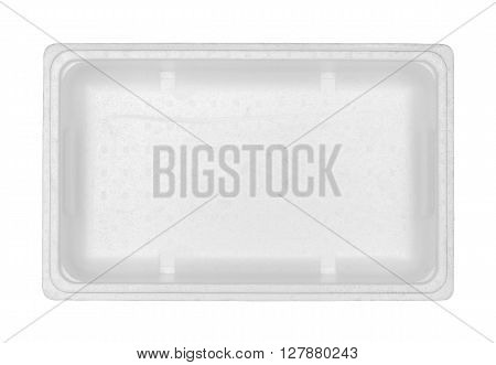 Styrofoam box (with clipping path) isolated on white background