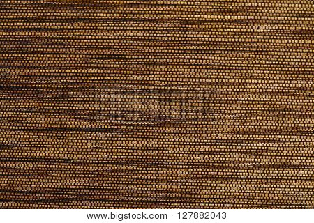 Fabric Texture Close Up of Golden Brown Fabric Texture Pattern Background.