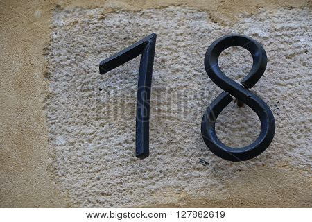 House number 18 in the city of Paris