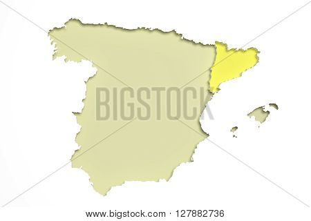 Map Of Catalonia And Spain