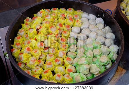 Traditional Chinese dumplings called