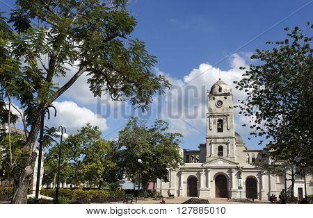 Street View In Camaguay, Church. Cuba
