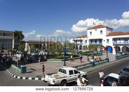 Street View Of Square In Holguin, Cuba