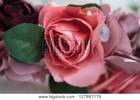 Close Up Details Of Artificial Flowers On Wraith