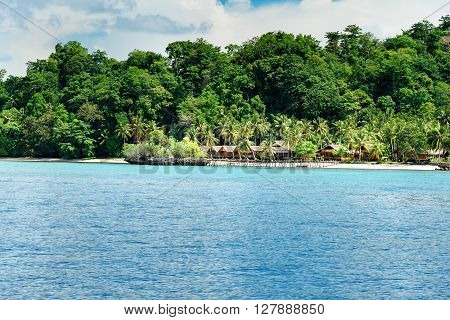 Beach On Bomba Island. Togean Islands. Indonesia.