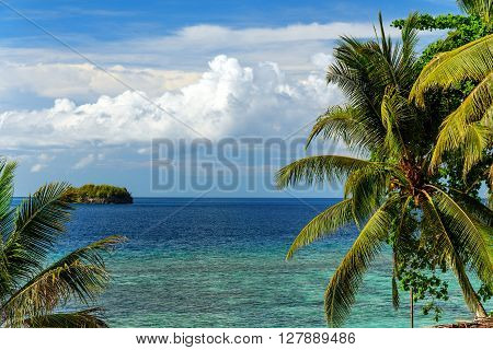 View Of Sea From Kadidiri Island. Indonesia