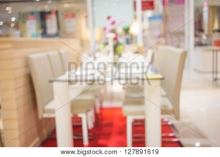 Blur Dining Room Of The Background