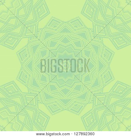 Vector Nature Seamless Pattern With Abstract Ornaments.