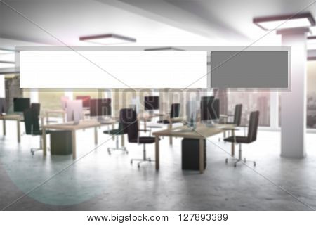grey modern web search button office appartment 3d illustration