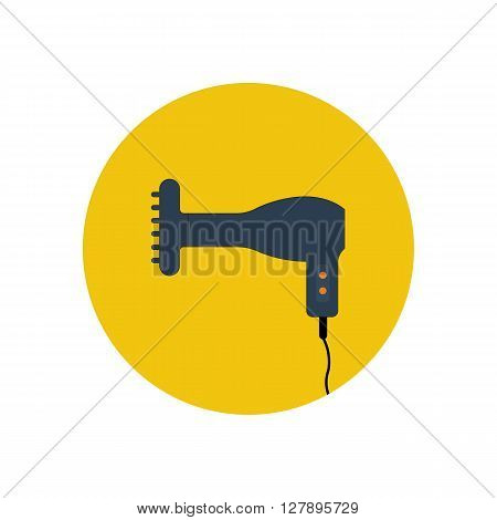 Hairdryer vector illustration. Hair styling tool. Hairdryer icon