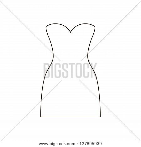 Dress vector illustration on the white background. Dress icon