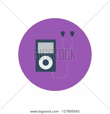 mp3 player icon. Vector illustration. Media player. Portable music device