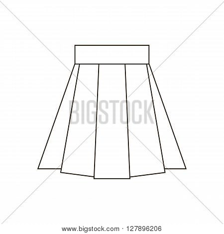 Skirt vector icon. Skirt illustration. Vector illustration