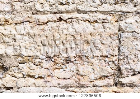 Old Stone And Cement Wall Surface