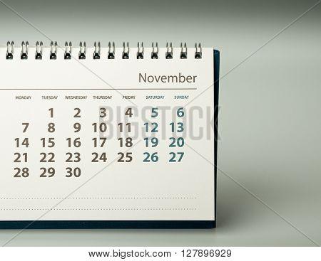 Calendar sheet. Calendar of the year two thousand sixteen.