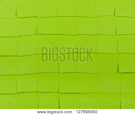 Sticky notes. Background of a green sticky notes.