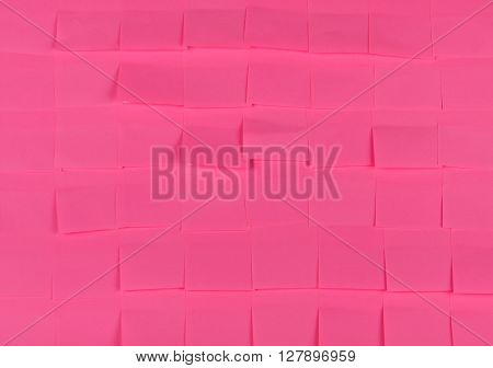 Sticky notes. Background of a pink sticky notes.