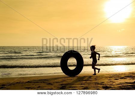 Boy And Life Buoy