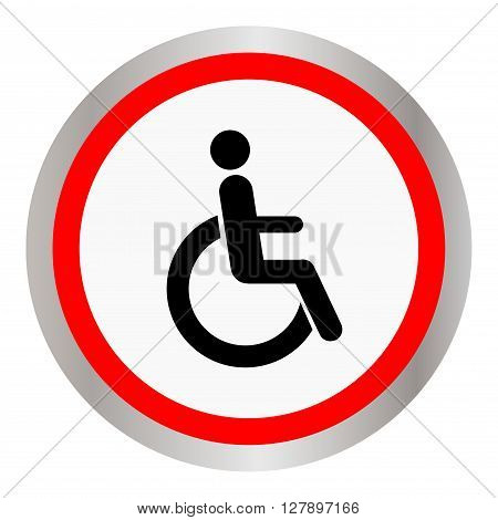 disabled icon sign, isolated on white, vector