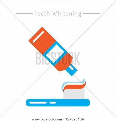 The items used for oral hygiene. Teeth cleaning icons outline set.