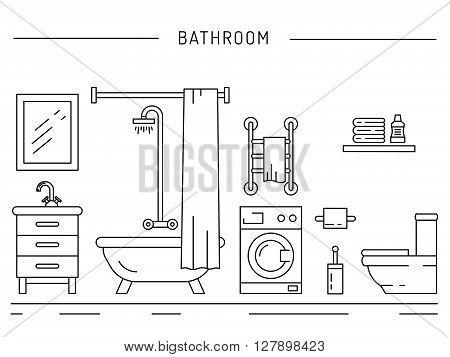 The interior of the shower room. Fittings used in the bathrooms.