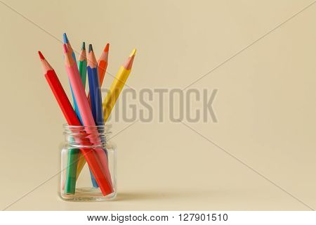 A Clockwise Standing Pencils In A Glass