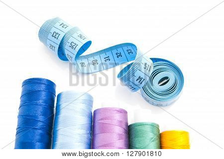 Threads And Meter On White