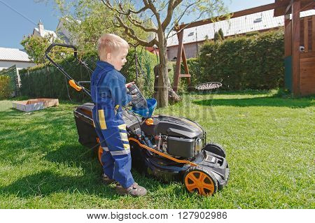 Spring Grass Mowing.