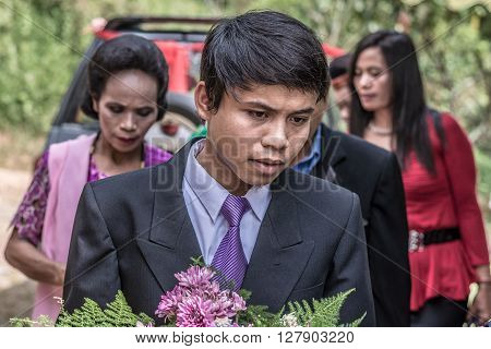 Group Of Toraja People, Filtered Image
