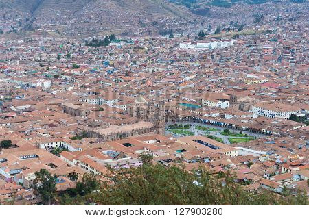 Cityscape Of Cusco, Peru, From Above