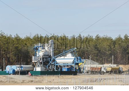 modular plant for the production of asphalt and asphalt mixes