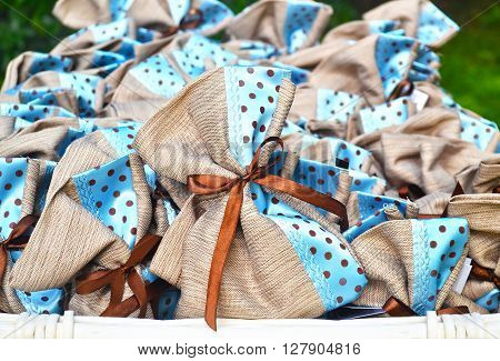 christening favors - blue baby boy favors - greek Orthodox baptism decor