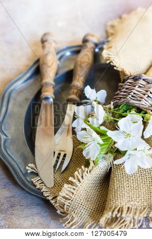 Springtime Table Setting