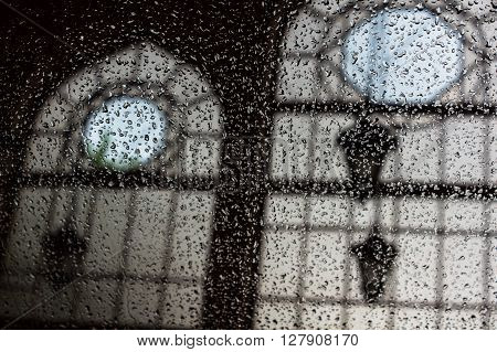 Drops Of Rain On A Window