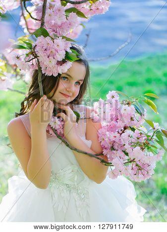 Little Girl In Spring Bloom