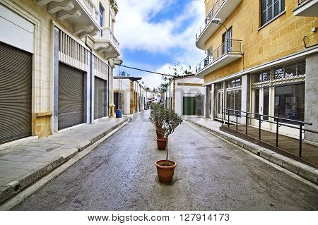 Ledras street, buffer zone between Nicosia Cyprus and occupied Cyprus