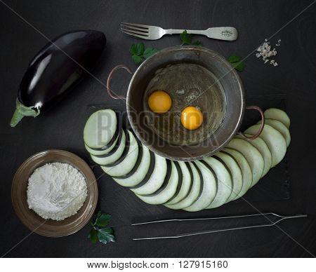 Fried Eggplant Ingredients