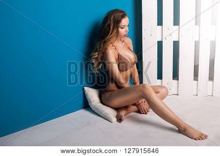 Sexy Brunette Girl Posing.