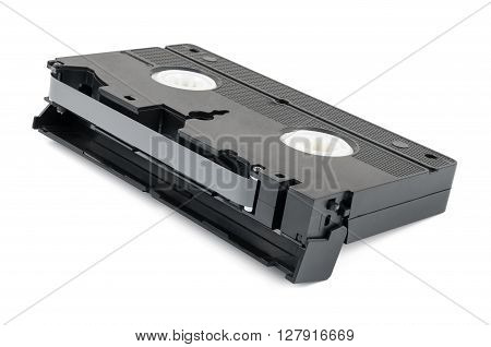 VHS video tape isolated on white background with clipping path
