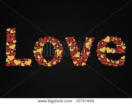 Love glitter heart-shaped