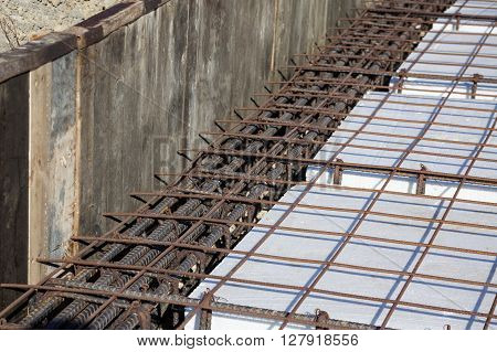 Formwork to build a foundation for a building