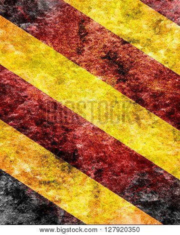 Black and yellow hazard lines