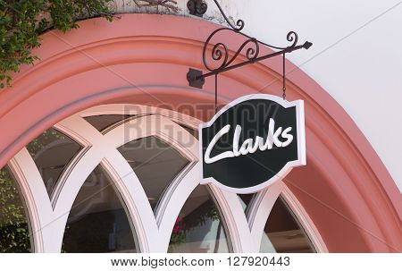 Clarks Retail Store Exterior And Sign