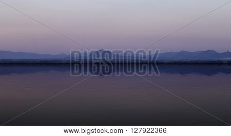 Mountain With Water Reflection, Lopburi, Thailand