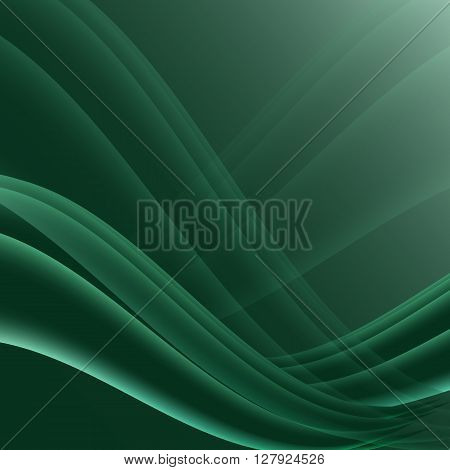 Green and black waves modern futuristic abstract background, stock vector