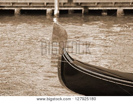 Venetian Gondola Sailing The Sea