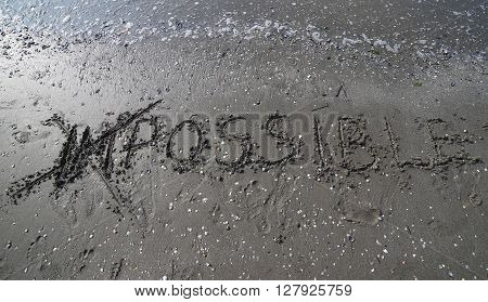 Any Questions Written On The Sand