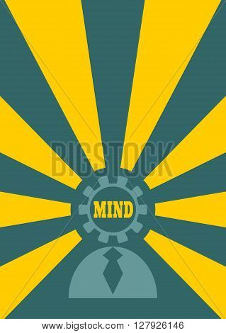 Human icon and mind shining. Idea generator. Thinking process metaphor